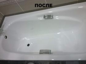 Ванна чугунная после реставрации