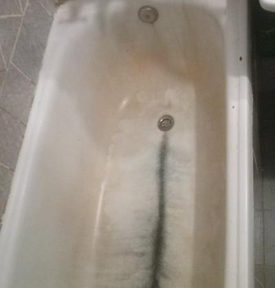 чугунная ванна до покрытия акрилом