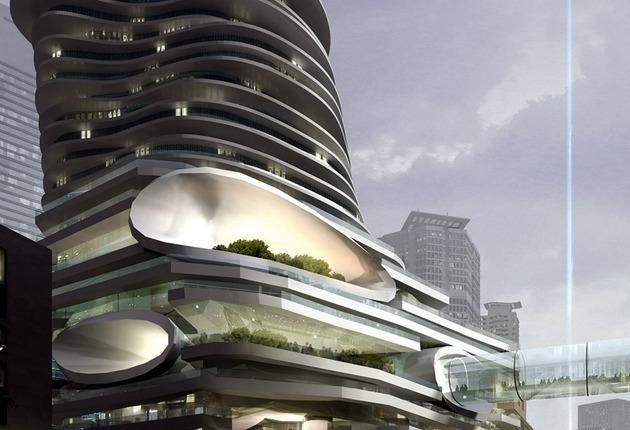 Балконы небоскреба